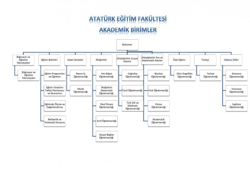 Atatürk Eğitim Fakültesi organizsyon şeması