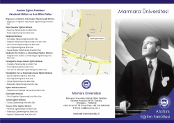 Atatürk Eğitim Fakültesi Tanıtım Broşürü