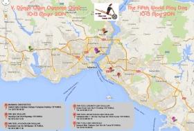 V. Dünya Oyun Günü Etkinlik Haritası / The Fifth World Play Day activities map