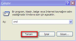 Windows Xp'de Mac Adresi Öğrenme