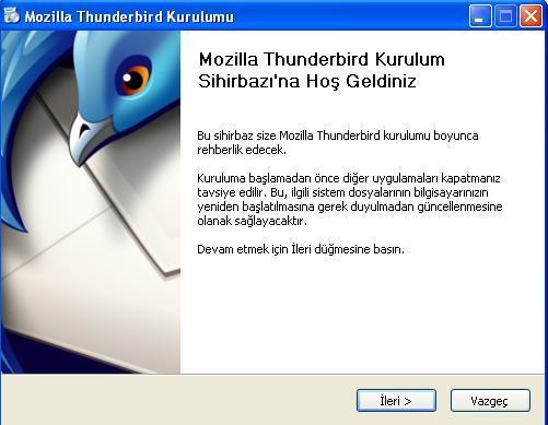 Türkçe Windows işletim sistemi üzerinde Thunderbird 3.x ve üzeri