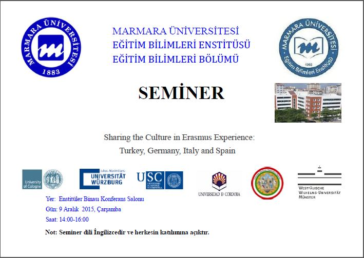 Sharing the Culture in Erasmus Experience:Turkey, Germany, Italy and Spain