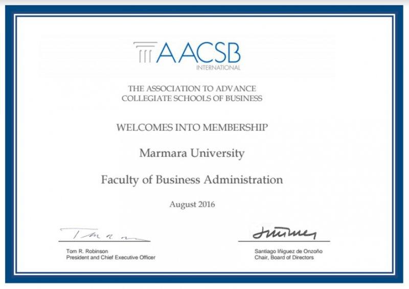 Marmara İşletme - AACSB Membership