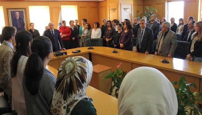 Marmara Üniversitesi'nde bayramlaşma töreni düzenlendi.