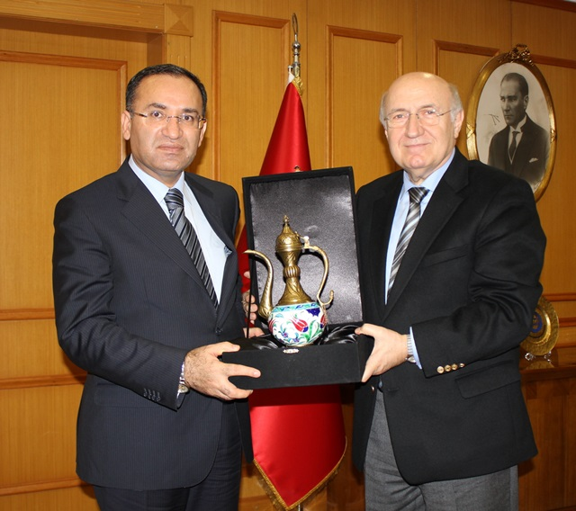The Visit from Minister of Justice Bekir Bozdağ  to Our  Rector