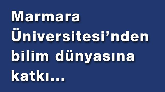 Contribution of Marmara University to the Science World