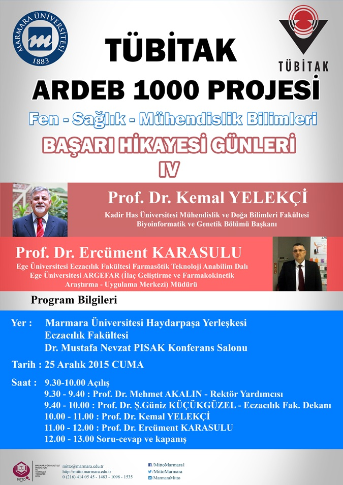 """TUBİTAK 1000 Project Success Stories Sharing Days"" Event – IV"