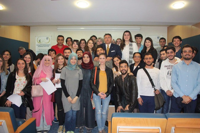 Nadir Güllü Gave A Conference At The   Faculty of Business Administration