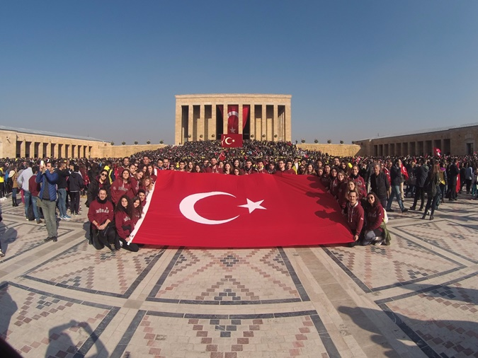 Respect Event for Ataturk from MÜSAS
