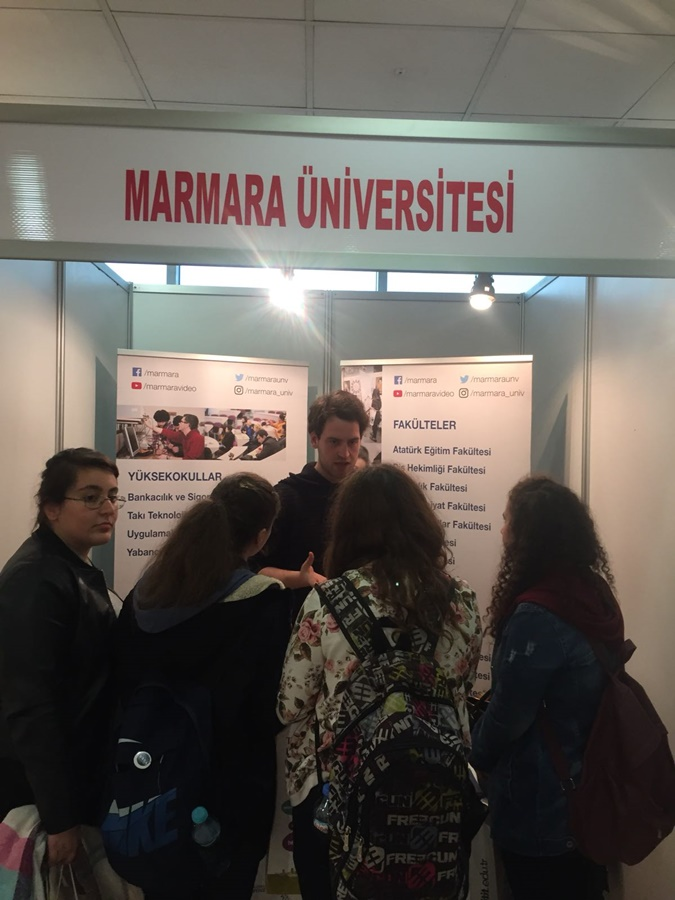 Marmara University Attended Fatih Municipality  University Presentation and Career Days