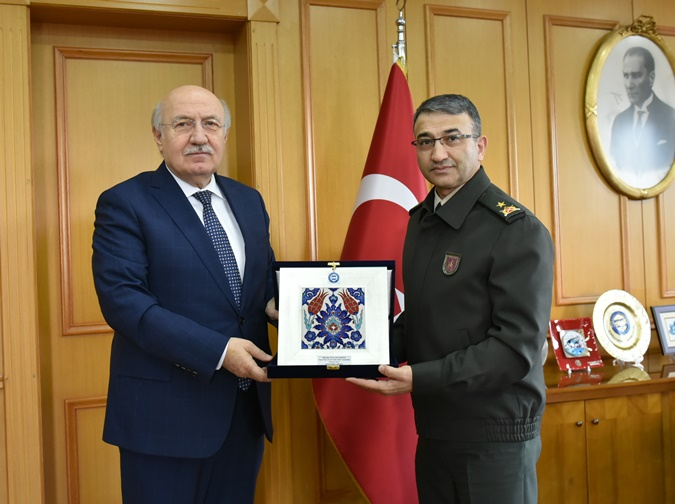 Visit to our University by the Commander of İkmal Maliye School and Education Center