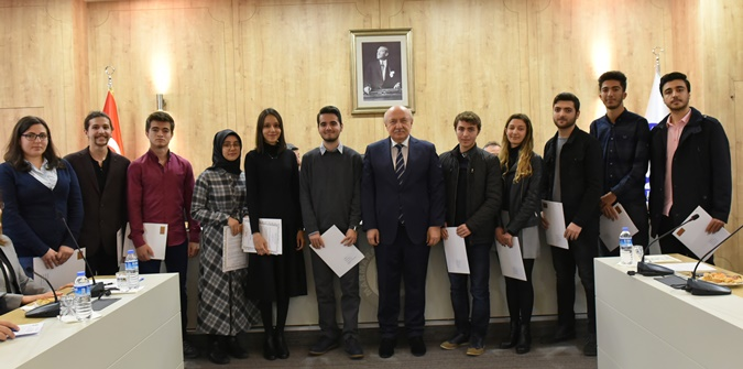 Success Certificate from the YÖK to the Marmara University Top Scoring Students of Faculties