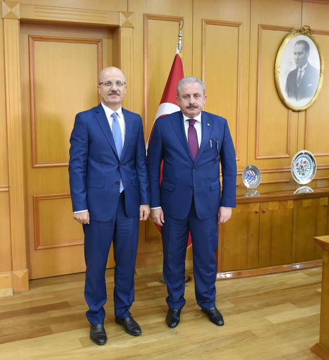 Vice President of the Parliament Prof. Mustafa Şentop  Visits the Rector