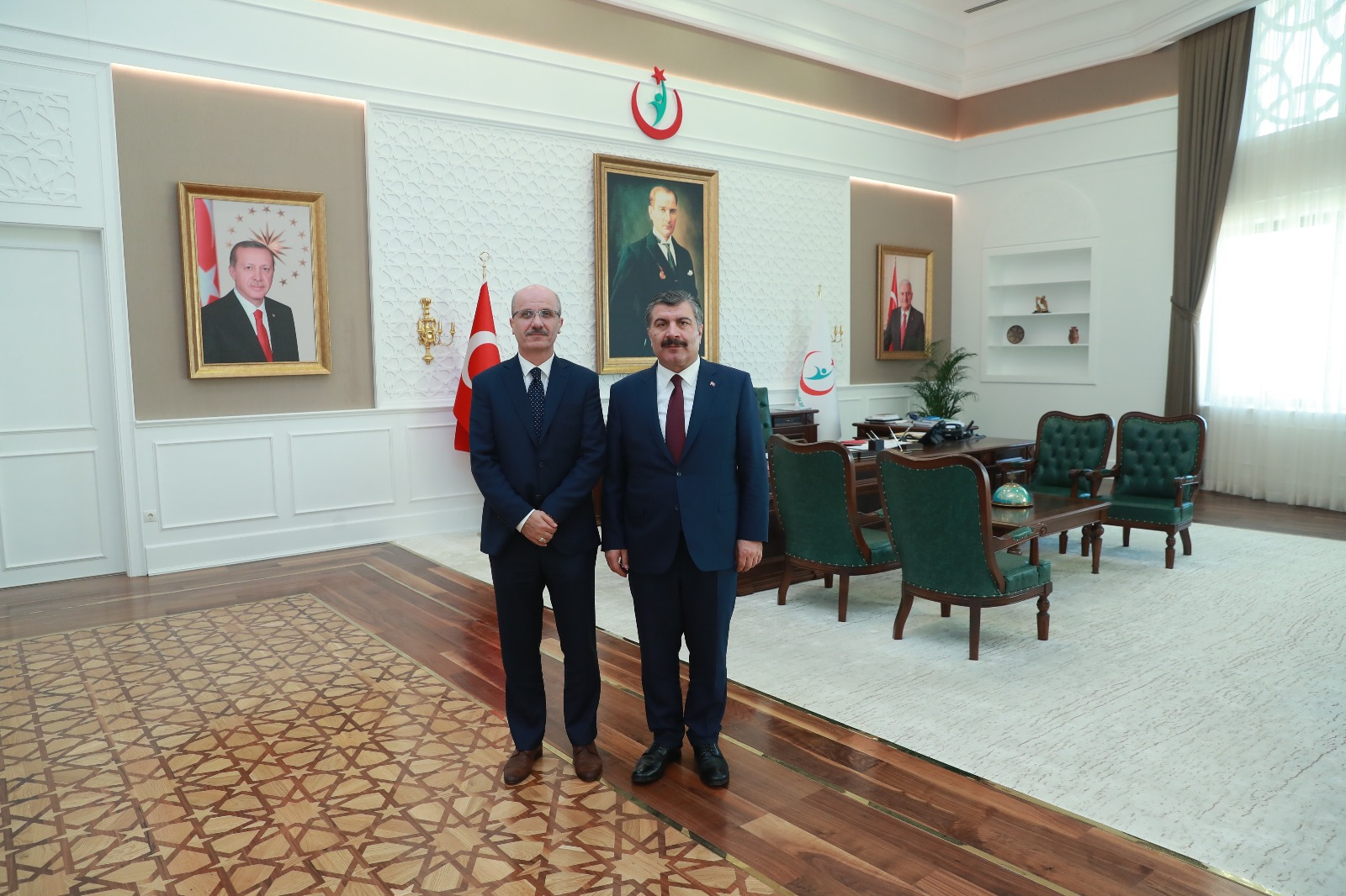 Our Rector visited the Minister of Health