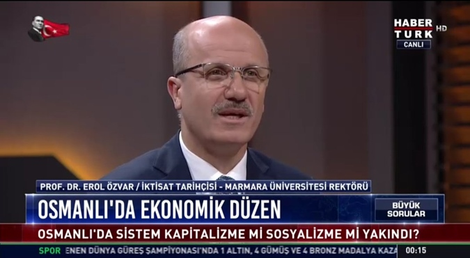 "Rector Prof. Dr. Erol Özvar was the guest on a tv programme titled ""The Big Questions""."