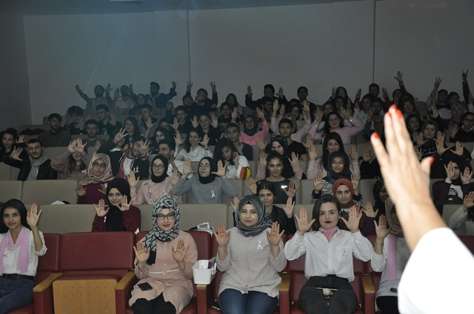 "Young Innovative Health Care Providers  Club Raised Awareness Through The  ""Pink Ribbon"" Activity"