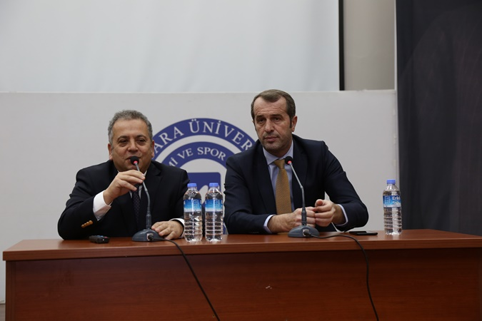 Former National Footballer Saffet Sancaklı at the Faculty of Sport Sciences