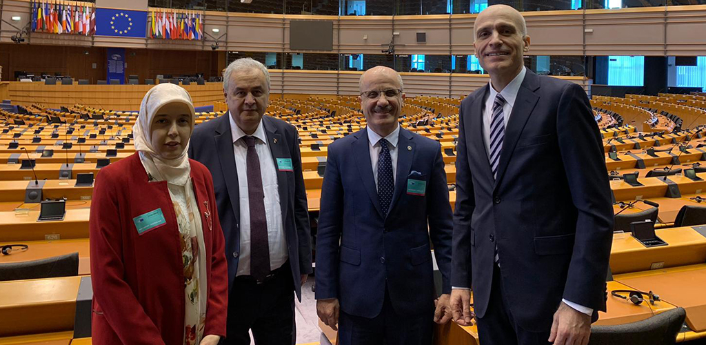 "Our Rector Prof. Dr.Erol Özvar participated as a speaker in the panel in Brussels within the scope of ""Protecting the Academic Heritage in the Middle East Project''"