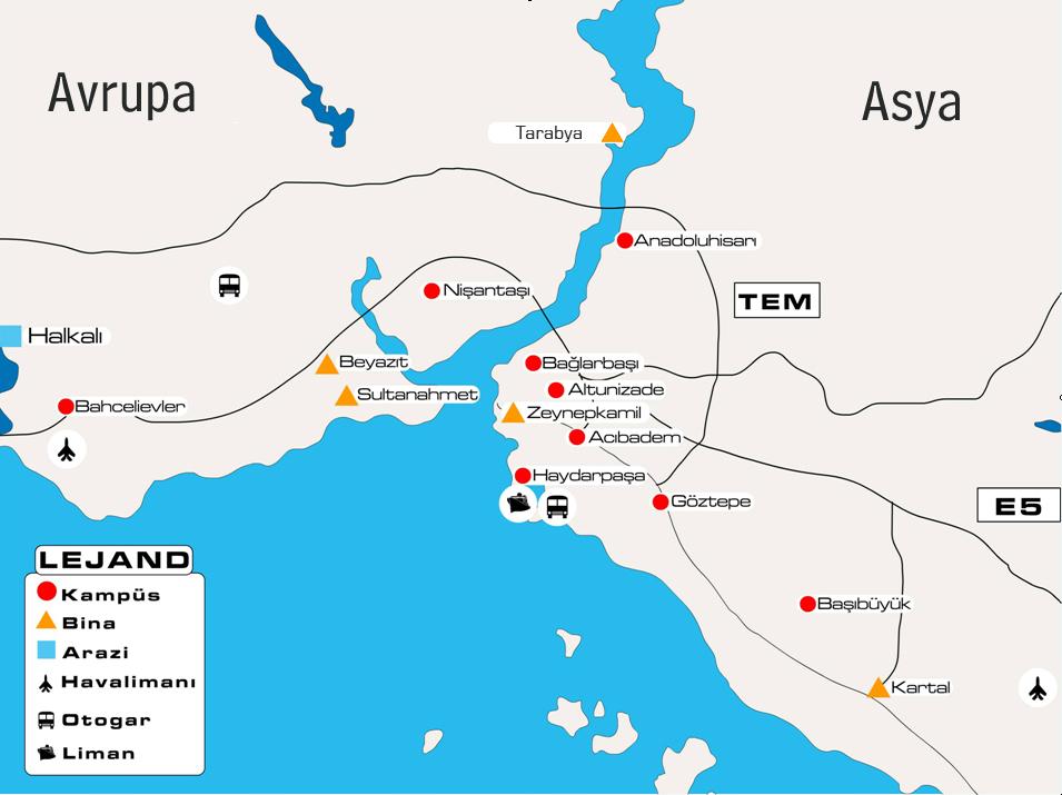 Marmara Üniversitesi Campuses